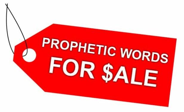 Prophetic Words For Sale